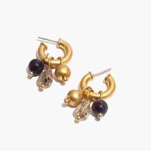 NWT Madewell Beaded Charms Chunky Mini Earrings